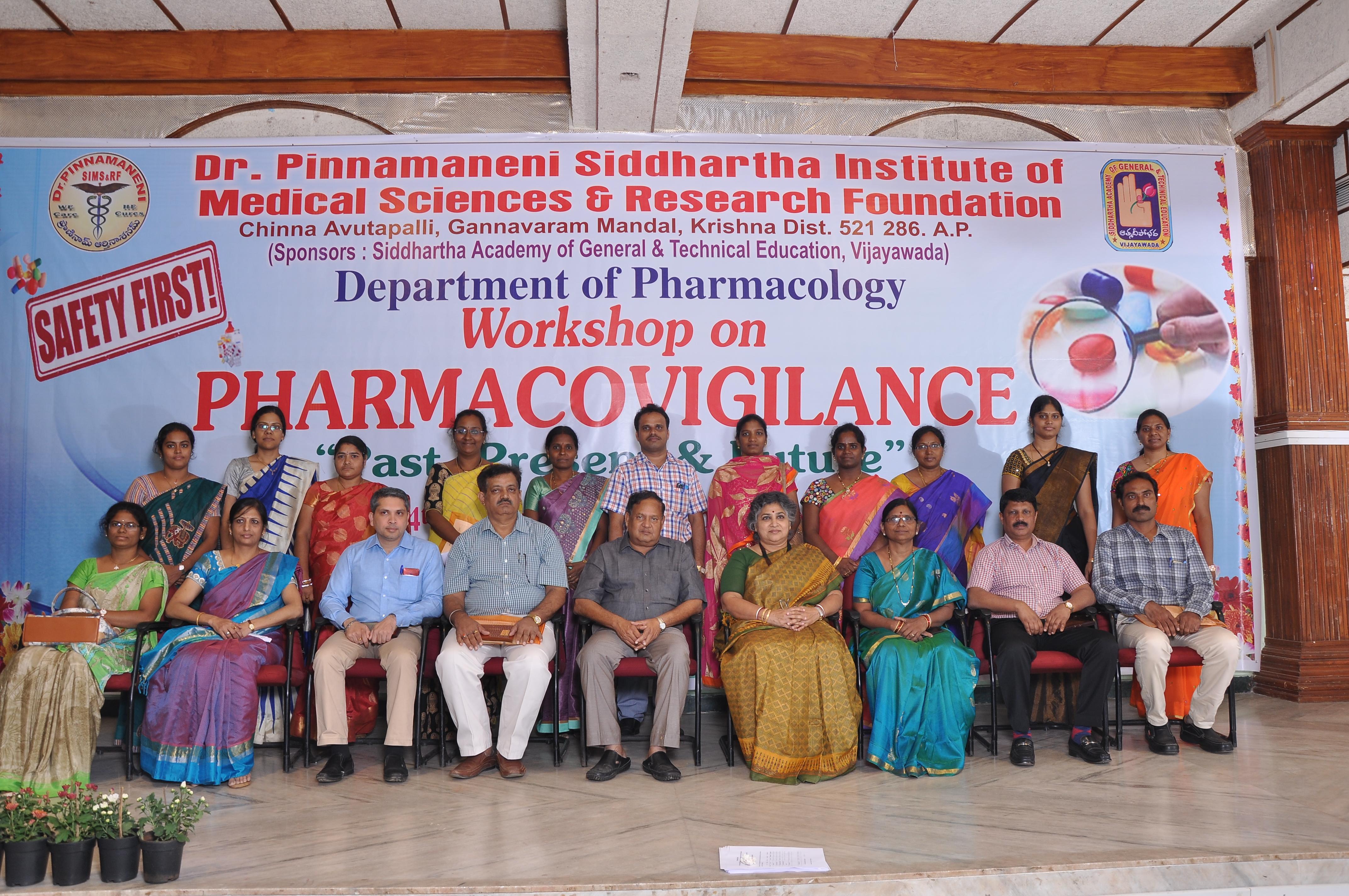 "Workshop on PHARMACOVIGILANCE ""Past,Present & Future"""